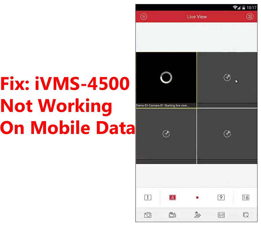 iVMS-4500 Not Working On Mobile Data